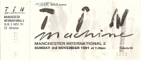 Bowie, David - Tin Machine Ticket Stub 1991