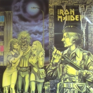 "Iron Maiden - Women In Uniform/ Invasion/ Phantom Of The Opera [EMI Records 12EMI 5105] 1980, UK 3 track 12"" single, with rare uncensored 'Maggie Thatcher' sleeve"