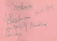 Yardbirds, The - Signed album page, Jeff Beck line up.