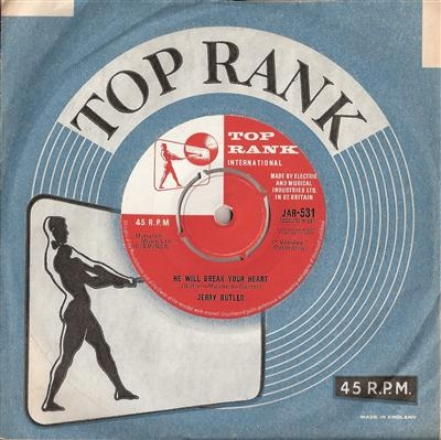 Butler, Jerry - He Will Break Your Heart, rare Top Rank single