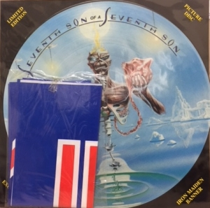 Iron Maiden - Seventh Son Of A Seventh Son [EMI Records EMPD 1006] 1988, UK issue, Picture Disc vinyl c/w Banner