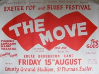 Move, The - 1969 large concert poster, with The Gods, Edgar Broughton and John Peel