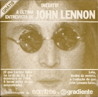 "Beatles, The - The Last Interview Of John Lennon, 7"" single, only released in Brazil in 1982"