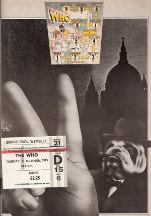 Who, The...European Tour 1975, UK program, c/w ticket stub [21st October 1975, Empire Pool, Wembley]
