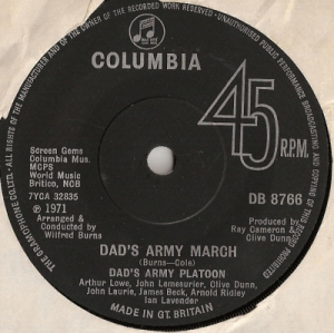 Soundtrack - Dad's Army [UK issue, 1971 Columbia Records]
