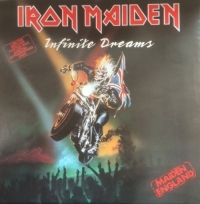 "Iron Maiden - Infinite Dreams/ Killers/ Still Life [EMI Records 12EMP 117] 1989, UK 3 track 12"" autographed etched single, with rare poster sleeve"
