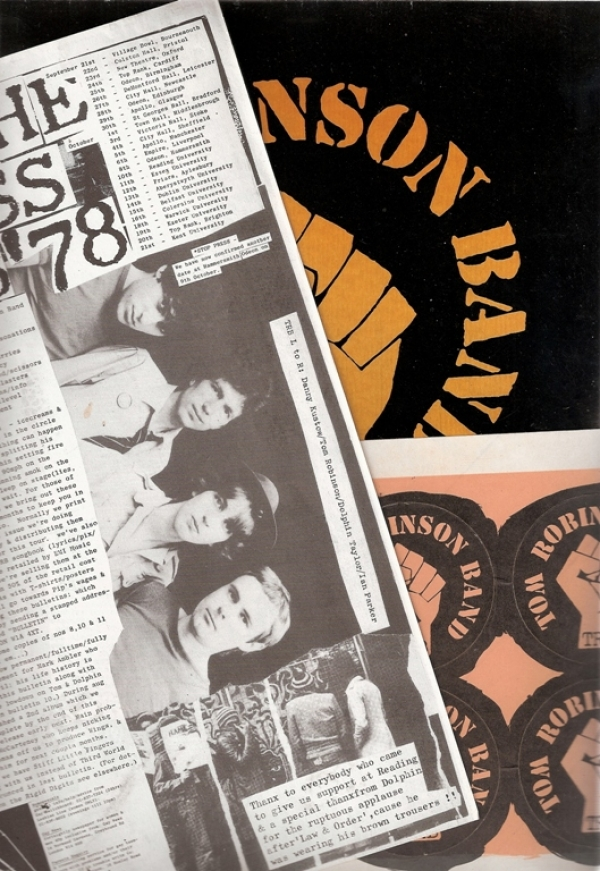 Tom Robinson Band...Song Lyrics '78 [Out Of The Darkness Tour], UK 1978 program, c/w Out Of The Darkness flyer and rare sheet of TRB stickers