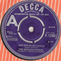 "Rolling Stones, The - Get Off Of My Cloud/ The Singer Not The Song, original 1965 UK 'A Label' Demo/Not For Sale issued 7"" single, [Decca Records F.12263]"
