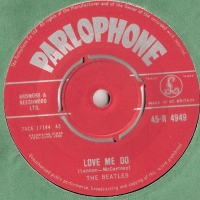 Beatles, The - Love Me Do/ P.S. I Love You, [Parlophone Records 45-R 4949] original UK issue, 1st pressing with Red Label, 1962