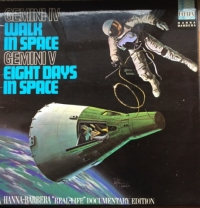 Gemini IV, Walk In Space - Real Life Documentary [Hanna-Barbers Records HLP 12], Mono 1966, original UK spokenword release