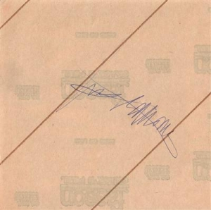 Ramones, The - Joey Ramone signed promo sticker from 1977