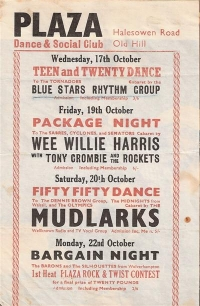 Flyer / Handbill from 1962 featuring Wee Willie Harris