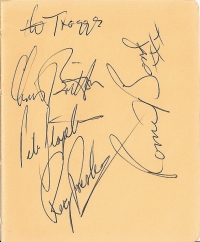 Troggs, The - signed album page, mid 60's line up.