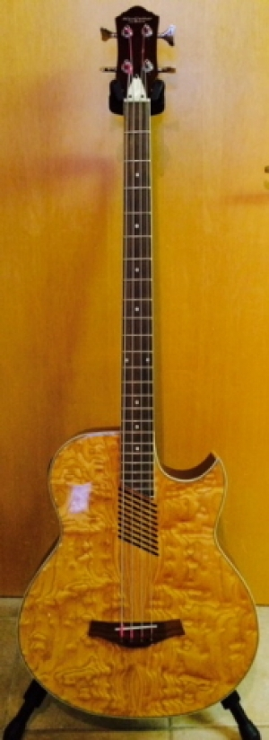 Instruments - HAS Electric Acoustic Bass guitar, full size, nice deep/ large body