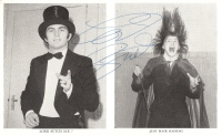 Lord Sutch - signed promo card, 60's