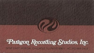Bolan, Marc & T Rex - Paragon Recording Studios business card, used by the band and the card was also used as a back stage pass.