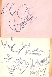 Poole, Brian & The Tremeloes - 60's signed album page c/w The Mojo's & The 4 Pennies on the reverse