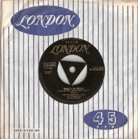 "Flamingos, The - Would I Be Crying?/ Just For A Kick, 1957 UK pressed 7"" single, [London Records HLN 8373], Tri-centre with Gold lettering, first original pressing"