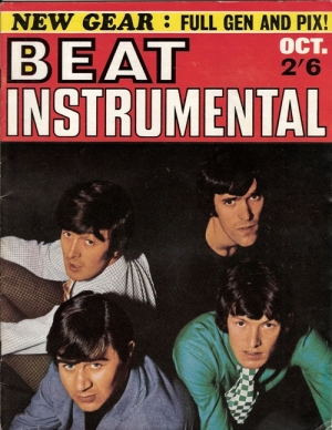 Beat Instrumental - dates from October 1966, original UK 1966 music magazine, Beatles, Stones