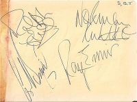 Swinging Blue Jeans, The - fully signed album page, early 60's