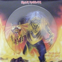 "Iron Maiden - The Number of The Beast [orig' version]/ The Number of The Beast [Live' version]/ Remember Tomorrow [12"" UK picture disc]"