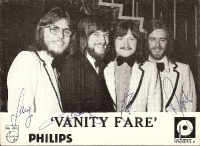 Vanity Fare - autographed promo picture, fully signed by all band members