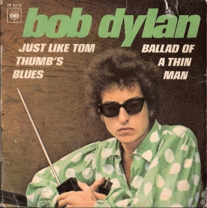 Dylan, Bob - Ballad Of A Thin Man/ Just Like Tom Thumb's Blues - [CBS Records EP 6270] French 60's *picture sleeve only*