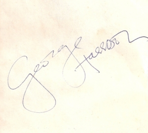 Beatles, The - George Harrison, autogragh/ signature, a very nice and clear signature from about 1963/64, the heyday of Beatlemania