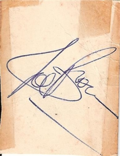 Brown, Joe - 60's signed piece of card from the great Joe Brown