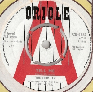 Termites, The - Tell Me/ I Found My Place, [Oriole Records CB 1989] original UK 1965 Demo