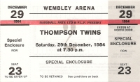 Thompson Twins - Ticket Stub 1984