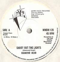 Diamond Head - Shoot Out The Lights/ Helpless [Happy Face Records MMDH 120] 1980, original UK first press, good example of  BWOBHM