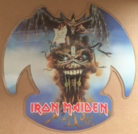 "Iron Maiden - The Evil That Men Do/ Prowler '88 [EMI Records EMP 64] 1988, UK issue, 7"" shaped picture disc single"