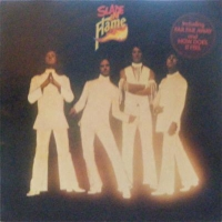 Slade - Slade In Flame, stickered front sleeve, record and gatefold sleeve in NM condition