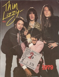 Thin Lizzy - Concert Tour Programme from 1979, includes ticket and newspaper review.