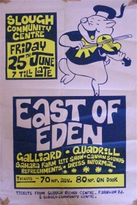 East Of Eden - Original Concert Poster, Slough Community Centre, 1971