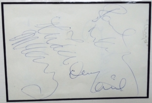Beatles, The - Paul McCartney & Wings autographs, three signitures, Paul McCartney, Linda McCartney and Denny Laine signed in 1972
