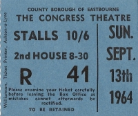Faith, Adam - Concert Ticket Stub 1964
