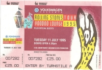 Rolling Stones, The - Concert Ticket 1995