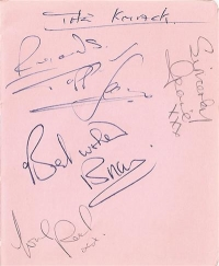 Knack, The - 60's band The Knack signed album page