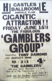 Gamblers, The [pre- Billy Fury's Backing Band] - concert poster June 1962