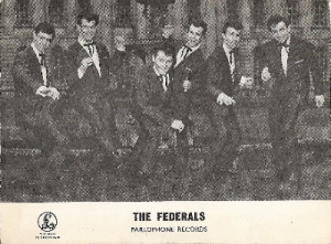 Federals, The - autographed promo picture, fully signed by all 6 band members