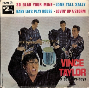 Taylor, Vince & The Play Boys - Long Tall Sally EP, [Barclay Records 70 395] French 60's EP c/w picture sleeve