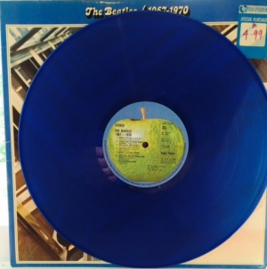 Beatles, The - 1967-1970, [Apple PCSPB 718], Stereo 1978. Original UK press, Blue vinyl, gatefold sleeve, double LP set with inner sleeves
