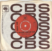 Robert John - If You Don't Want My Love/ Don't, 1968 original UK issue on CBS Records 3436