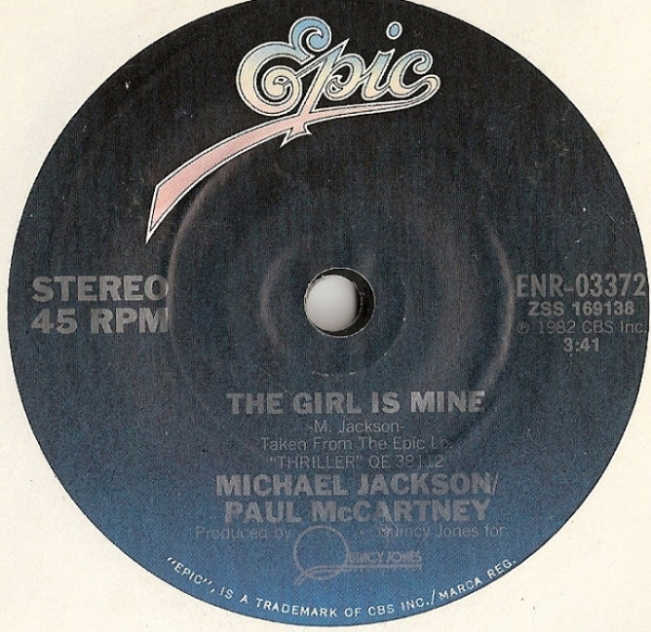 McCartney, Paul/ Michael Jackson - The Girl Is Mine, [Epic Records ENR 03372] US 1982, One sided low budget release