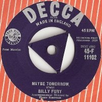 Fury, Billy - Maybe Tomorrow/ Gonna Type A Letter, UK original single, Decca Records 45-F 11102 issued UK 1959
