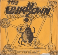 Unknown, The - 2 track one sided single - Look At Me Babe/ Blue Jean Man [Moxie Records M103] US 1977 blue vinyl issue of 60's US garage punk band