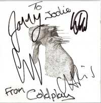 Coldplay - A Rush Of Blood To The Head, fully signed CD by all the band members