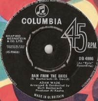 "Wade, Adam - Rain From The Skies/ Don't Let Me Cross Over, 1963 UK pressed 7"" single, [Columbia Records DB 4986] Classic Northern Soul/ MOD 'B' side"